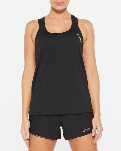 Ghst Singlet Black/Gold Reflective